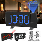 Projection Alarm Clock Digital Dual Alarm Clock Radio LCD LED Display Sleep Time
