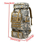 80L Outdoor Military Molle Tactical Travel Rucksack Backpack Camping Hiking Bag
