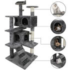 Multiple Sizes Large Cat Kitty Tree Scatch Tower Kitty Play House Plush Activity