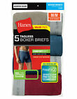 Hanes Men's Cotton Tagless Exposed Comfortsoft Waistband Boxer Briefs 5 &10 Pack