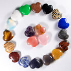 25mm Charms Natural Rose Quartz Heart Crystal Stone For Home Decoration 12pcs