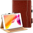 "EasyAcc PU Leather Case +Tempered Glass Protective Film Fr iPad 10.2"" 2019 Gen 7"