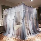 Princess Post Bed 4 Corner Canopy Mosquito Net Full Queen Netting Bed No Frame