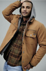 Genuine Dickies Mens Canvas Hooded Shirt Work Jacket Brown Duck NWT Size XL 2XL