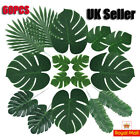 60x Hawaiian Tropical Artificial Palm Leaf Jungle Foliage Luau Party Home Decor