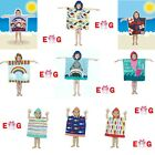 Boys Girls Kids Hooded Towel Children Poncho Beach Bath Swimming UV Factor 40+