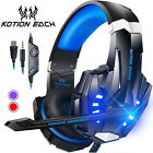 KOTION EACH 3.5mm Gaming Headphone Stereo Earphone with Mic Volume Control V4A1