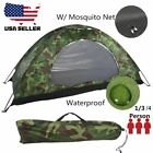 Portable Outdoor Camping 4 Person Waterproof Hiking Folding Dome Tent Camouflage