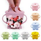 Infant Baby Toddler Silicone Snack Cup Snack Food Keeper Bowl Portable