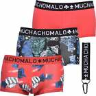 Muchachomalo 3-Pack Money & Gamble Men's Boxer Trunks, Red/black