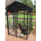 Lucky Dog Uptown Welded Wire Dog Kennel w/ Waterproof Cover 6' x 4' x 4'