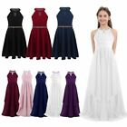 Flower Girls Princess Party Dress Formal Pageant Maxi Wedding Bridesmaid Gown