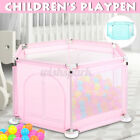 Baby Playpen Fencing Child Toddler Folding Safety Fence Barriers Indoor Pla
