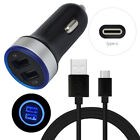 For Motorola Moto G9 Z4 G7 G Power USB Adapter Wall Car Charger Type C Cable 3FT