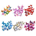 12pcs 3d Butterfly Wall Sticker Diy Magnetic Decals Kids Room Home Decor