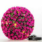 Artificial Lavender Lush Topiary Flower Grass Ball Hanging Decor Plant 28cm Pink