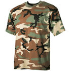US MILITARY STYLE TOP ARMY HUNTING WOODLAND CAMO TEE MENS COMBAT T-SHIRT S-3XL