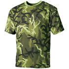 ARMY T-SHIRT MILITARY MENS TOP COMBAT VEST 100% COTTON CZECH WOODLAND CAMO S-3XL