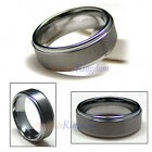 9MM FOREVER MENS TUNGSTEN RING STEP EDGE WEDDING BAND