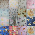 NURSERY baby cot BEDDING bumper FABRIC various Teddy Clown bunny Children PRINTS
