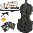 MENDINI FULL SIZE 4 4 STUDENT VIOLIN METALLIC BLACK +TUNER+SHOULDERREST+BOW+CASE