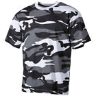 CLASSIC MENS COMBAT T-SHIRT MILITARY TEE ARMY TOP 100% COTTON SKYBLUE CAMO S-XXL