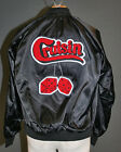 Black Satin Jacket-Chenille Cruisin' w/ Fuzzy Dice-COOL