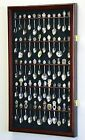 60 Spoon Display Case Cabinet Wall Mount Rack Holder 98% UV Protection Lockable