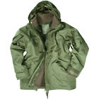 ARMY WATERPROOF PARKA MILITARY ECWCS HOODED JACKET with FLEECE OLIVE GREEN S-3XL