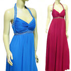 New Beaded Navy Hot Pink Purple Baby Blue Formal Evening Bridesmaid Prom Dress