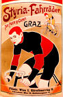 Vintage POSTER.Stylish Graphics.German Bicycle ad.Room Art Decor.747