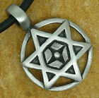 Star of David Hexagram Solomon Seal Shatkona Jewish Jew Israeli Pewter Pendant