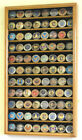 Large Challenge Coin Display Case Holder Marines Navy Army 98% UV Lockable