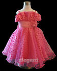Robe De Princesse Fille Mariage 2-13T Hot Rose Gown #39