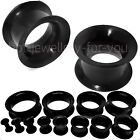 FLESH TUNNEL FLEXIBLE SILICONE EAR PLUG SOFT STRETCHER EXPANDER DOUBLE FLARED