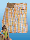 Authentic CALVIN KLEIN Jeans Ladies  Cotton Casual Shorts Orange
