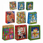 Red Christmas Xmas Gift Party Bags - 3 Sizes Available - Santa Snowman Designes