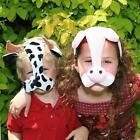 New Childs Novelty Animal Face Masks. One Size. Cow, Pig, Tiger