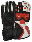 New Tuff Gear Motorbike Motorcycle Leather Gloves Red, Sizes S, XL, XXL
