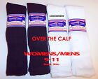 6 Pair 9-11 Physicians Choice OVER THE CALF Diabetic Socks USA Made Choose Color