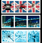 New Canvas Picture, 60 x 60 cm, Wall Art Print Multi 3 Panel Set Union Jack B631