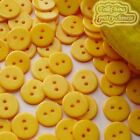 14mm Tangerine Flat Round Buttons Sewing Scrapbooking Cardmaking Craft