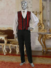 Renaissance or Victorian Style Vest Handmade from Brocade Damask and Satin