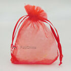 Red Organza Wedding Favour Gift Bags Jewellery Pouches 5x7cm,7x9cm,9x12cm...