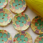 Green-Mint 30mm Wood Buttons Sewing Scarpbooking Craft B001