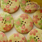 Cherry 30mm Wood Buttons Sewing Scarpbooking Craft D008