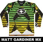 NO FEAR MX MOTOCROSS JERSEY shirt top SPECTRUM SPIKE GREEN men's