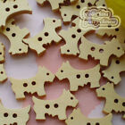 Cute Dog 25mm Wood Buttons Sewing Scrapbooking Craft NCB025
