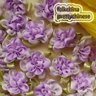 Purple Polyester Duplex Flower Sewing Scrapbooking Appliques Trim Craft JM2065