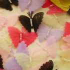 Mixed Organza 30mm wide Butterfly Scrapbook Sewing Appliques Trim Craft JMBB
